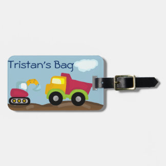 Dump Truck luggage tag personalize