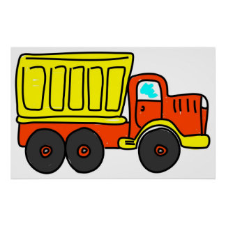 Dump Truck Poster