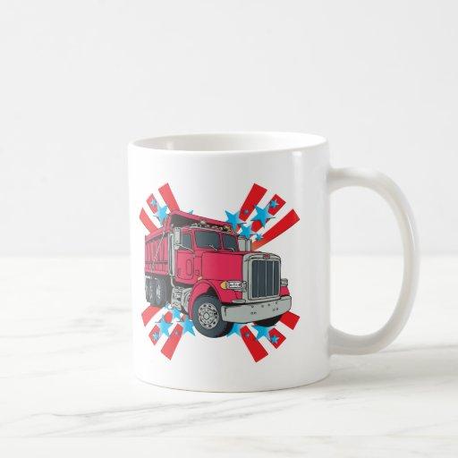 Dump Truck Stars Coffee Mugs