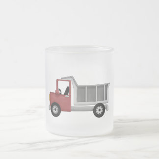 Dump Truck T-shirts and Gifts Frosted Glass Mug