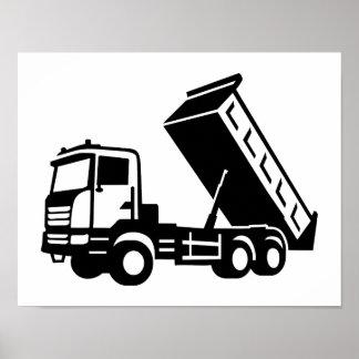 Dump truck tipper poster