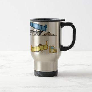 Dump Truck vector Travel Mug