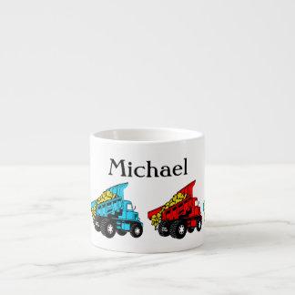 Dump trucks for kids espresso mug