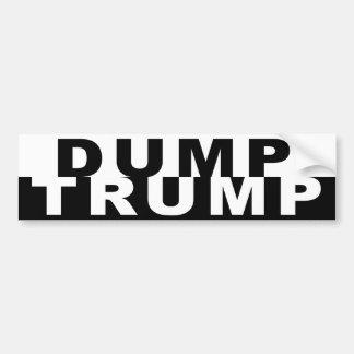 Dump Trump B&W Bumper Sticker
