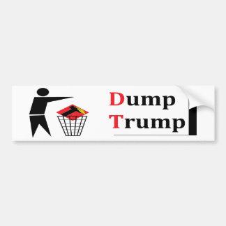 Dump trump. bumper sticker