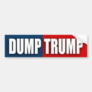 """DUMP TRUMP"" BUMPER STICKER"