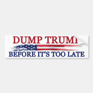 Dump Trump Bumper Sticker