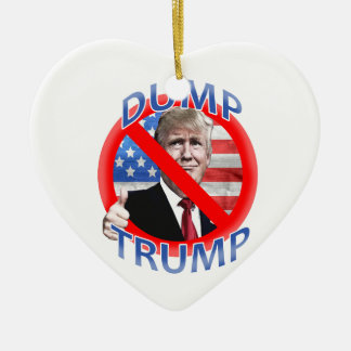 Dump Trump Ceramic Ornament