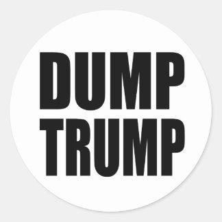 """DUMP TRUMP"" CLASSIC ROUND STICKER"