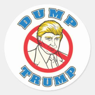 Dump Trump Classic Round Sticker