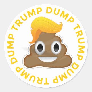 Dump Trump #DumpTrump Anti-Trump Donald Poo Donal Round Sticker