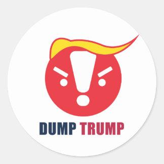 Dump Trump Emoji Round Sticker: White / Ant Art Classic Round Sticker