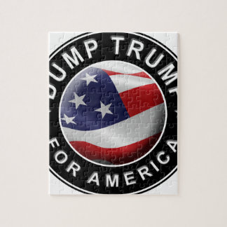 Dump Trump for America Official Logo Jigsaw Puzzle