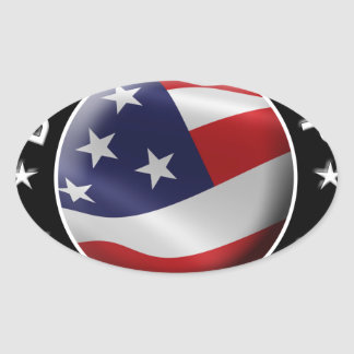 Dump Trump for America Official Logo Oval Sticker