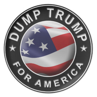 Dump Trump for America Official Logo Party Plate