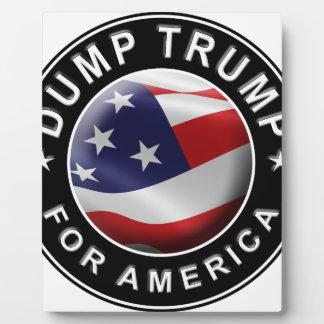 Dump Trump for America Official Logo Plaque