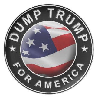 Dump Trump for America Official Logo Plate