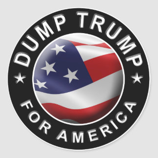 Dump Trump for America Official Logo Round Sticker