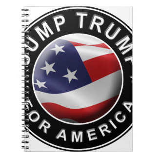 Dump Trump for America Official Logo Spiral Notebook