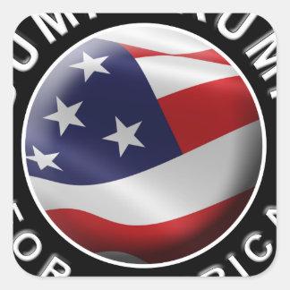 Dump Trump for America Official Logo Square Sticker
