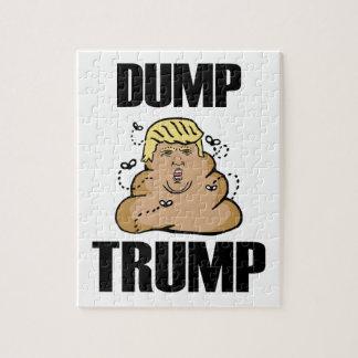 Dump Trump funny Jigsaw Puzzle