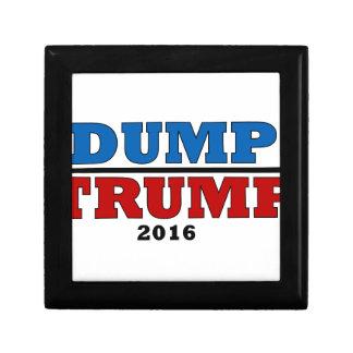 Dump Trump Hillary President 2016 Funny Gift Box