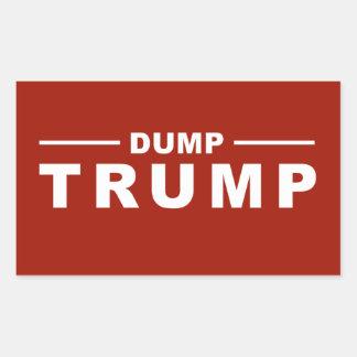 Dump Trump Rectangle Sticker