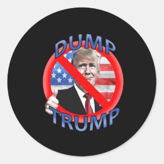 Dump Trump Round Sticker