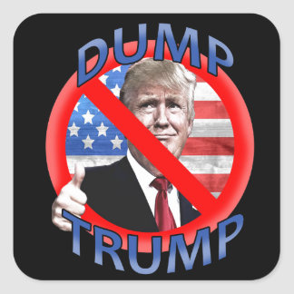 Dump Trump Square Sticker