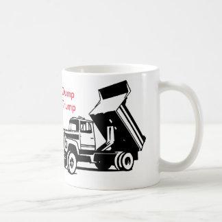dump trump truck basic white mug