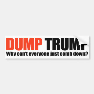 DUMP TRUMP - Why can't everyone just comb down -.p Bumper Sticker