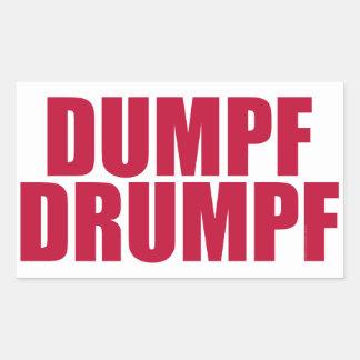 DUMPF DRUMPF (Red on White) Rectangular Sticker