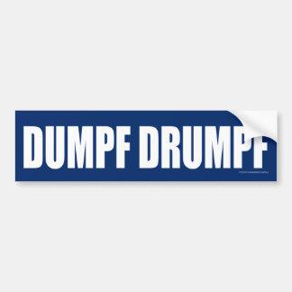 DUMPF DRUMPF (White on Blue) Bumper Sticker