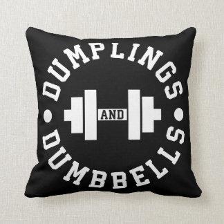 Dumplings and Dumbbells - Bulking - Funny Novelty Cushion