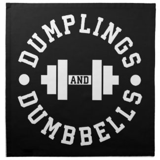 Dumplings and Dumbbells - Bulking - Funny Novelty Napkin