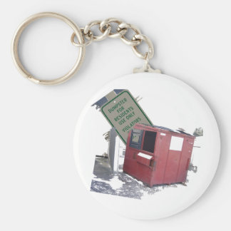 Dumpster Basic Round Button Key Ring