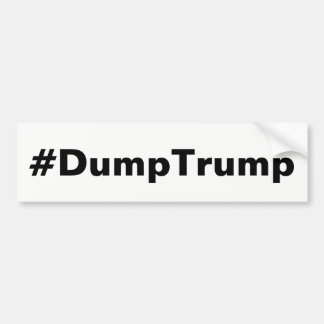 #DumpTrump Bumper Sticker