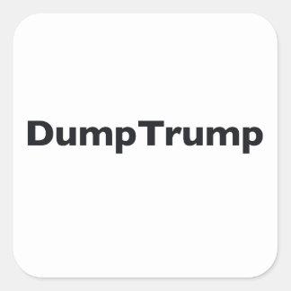 DumpTrump Square Sticker