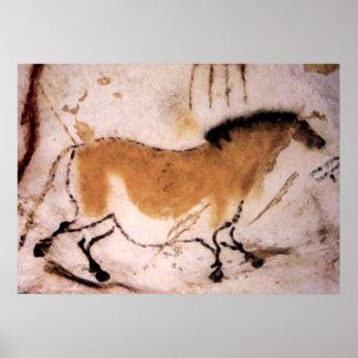 Dun Horse - Prehistoric Cave Painting Poster Print