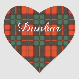 Dunbar clan Plaid Scottish tartan Heart Sticker