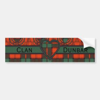 Dunbar Scottish Tartan Bumper Sticker