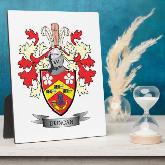 Duncan Family Crest Coat of Arms Plaque