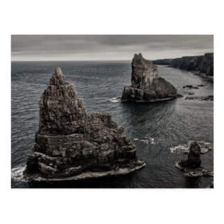 Duncansby Rock Stacks North of Scotland Landscape Postcard