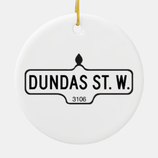 Dundas Street West, Toronto Street Sign Ceramic Ornament