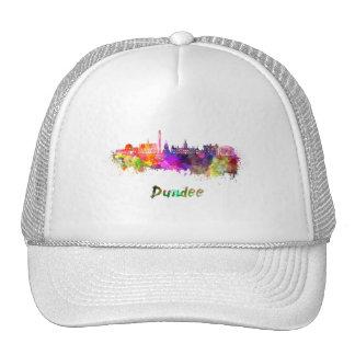 Dundee skyline in watercolor cap