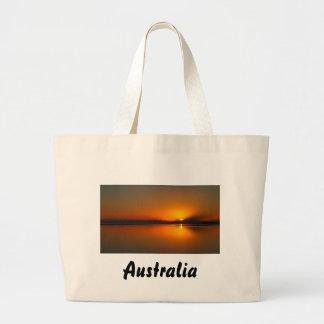 Dundowran Beach sunrise large tote bag