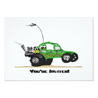 Dune Buggy Party Invitations