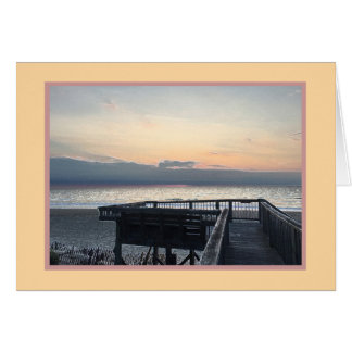 Dune deck sunrise view of Atlantic (note card) Card