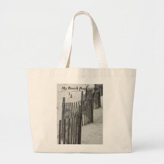 Dune Fence on Fire Is. Large Tote Bag