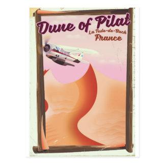 Dune of Pilat, Dunes vintage France travel poster. Postcard